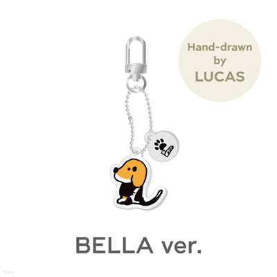 [LUCAS] ACRYLIC KEY RING CHARM_BELLA Ver. [Our Home : WayV with Little Friends]