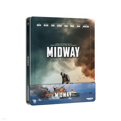 미드웨이 (1Disc, 4K UHD 스틸북 쿼터슬립 한정판) : 블루레이
