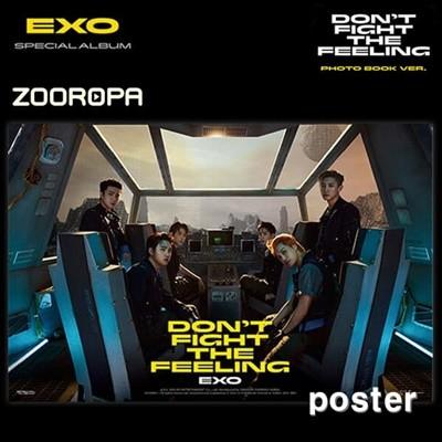 [새상품/포스터] 엑소 (Exo) Don't fight the feeling 스페셜 앨범 Photobook 2 (브로마이드1장+지관통)