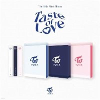 [미개봉] 트와이스 (Twice) / Taste Of Love (10th Mini Album) (Taste/Fallen/In Love Ver. 랜덤 발송