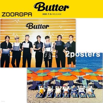 [새상품/2포스터] 방탄소년단 BTS Butter 버터 (브로마이드2장+지관통)