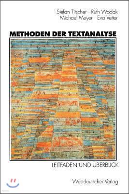 Methoden Der Textanalyse: Leitfaden Und Uberblick