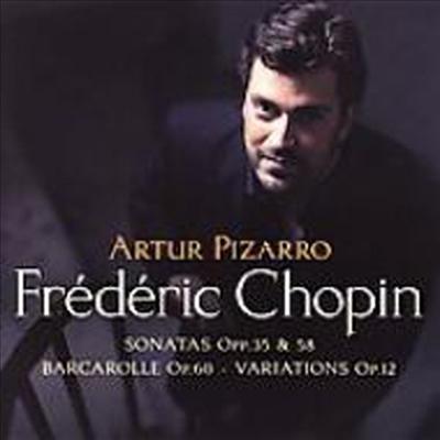 쇼팽 : 피아노 소나타 2번 '장송', 3번, 화려한 변주곡 & 뱃노래 (Chopin : Piano Sonata No.2 Op.35, No.3 Op.58, Variations Brillantes Op.12 & Barcarolle Op.60) (SACD Hybrid) - Artur Pizarro