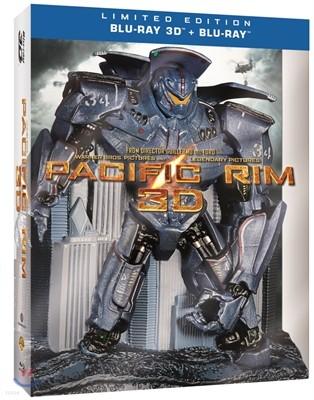 퍼시픽 림 (2D+3D)(Jaeger Box 한정판) : 블루레이