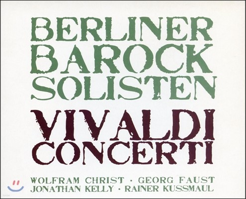 Berliner Barock Solisten 비발디: 사계, 오보에 협주곡, 비올라 다모레 협주곡, 첼로 협주곡 (Vivaldi: Concerti & The Four Seasons)