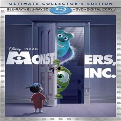 Monsters, Inc. (몬스터 주식회사) (한글무자막)(Blu-ray 3D + Blu-ray + DVD Combo + Digital Copy) (2012)