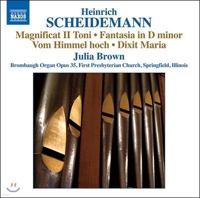 Julia Brown 하인리히 샤이데만: 오르간 작품 전곡 7집 - 마니피카트 2권, 환상곡, 딕시트 마리아 (Heinrich Scheidemann: Magnificat II Toni, Fantasia, Dixit Maria) 줄리아 브라운