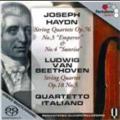 하이든 : 현악 사중주 Op.76-3 '황제', 4번 '일출' & 베토벤 : 현악 사중주 5번 Op.18-5 (SACD Hybrid) - Quartetto Italiano