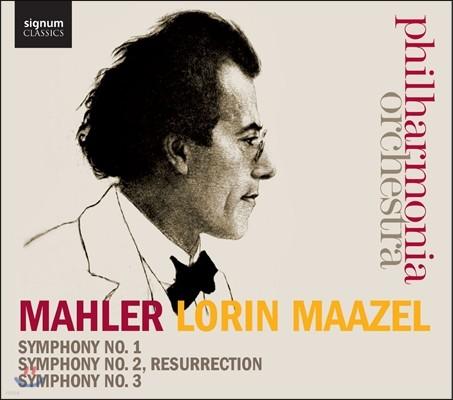 Lorin Maazel 말러: 교향곡 1번 2번 `부활` 3번 (Mahler: Symphonies Nos. 1-3)