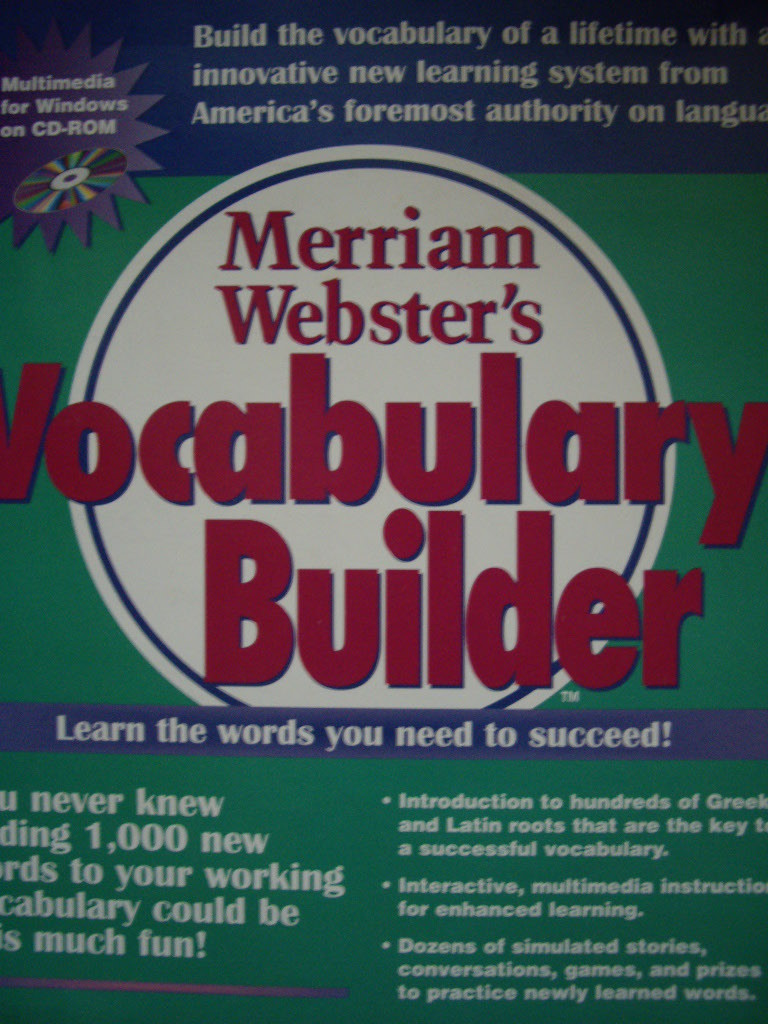 Merriam Webster's Vocabulary Builder CD-ROM edition