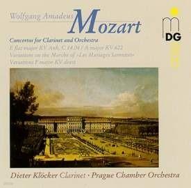 [중고] Dieter Klocker / Mozart : Clarinet Concerto K.622, Etc (수입/mdg30107552)