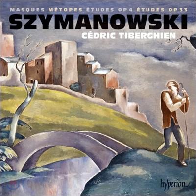 Cedric Tiberghien 시마노프스키: 연습곡, 가면극 / 메토프: 3개의 시 - 셰드릭 티베르기엥 (Karol Szymanowski: Etudes)