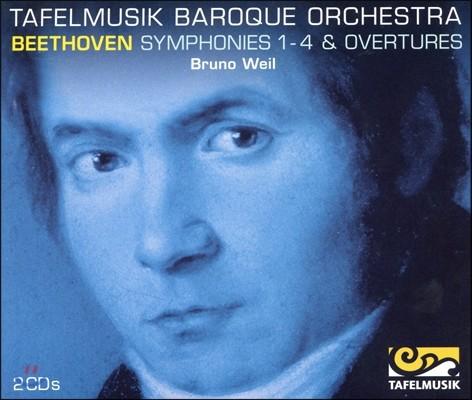 베토벤 : 교향곡 1~4번, 프로메테우스의 창조물, 코리올란 - 브루노 바일