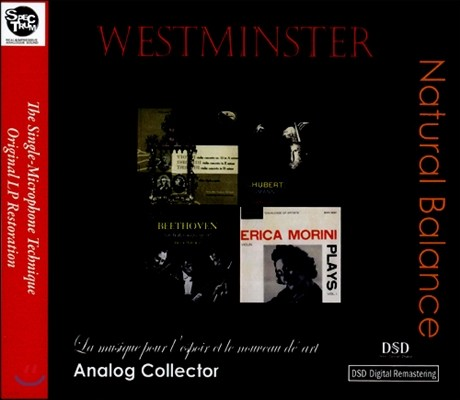 Antonio Janigro / Erica Morini / Peter Rybar 미국 웨스트민스터 초반, 재반 LP복각 시리즈 (Westminster Natural Balance)