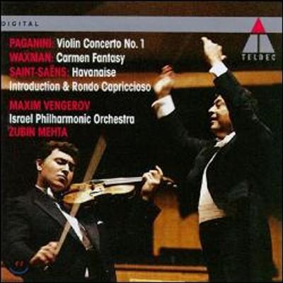 파가니니 : 바이올린 협주곡 1번, 생상스 : 서주와 론도 카프리치오소 & 왁스만: 카르멘 환상곡 - 막심 벤게로프