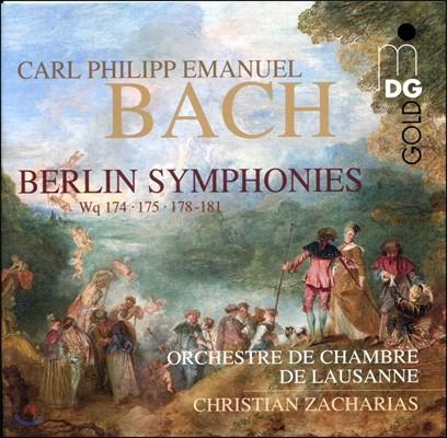 Christian Zacharias 칼 필립 에마누엘 바흐: 베를린 교향곡 (C.P.E. Bach : Berlin Symphony Wq.174,175,178-181)