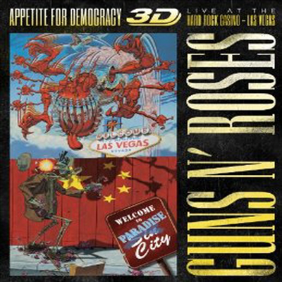 Guns N' Roses - Appetite For Democracy 3D: Live at the Hard Rock Casino- Las Vegas (Blu-ray 3D+Blu-ray) (2014)(Blu-ray)
