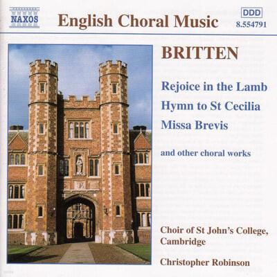 Britten : Rejoice In The LambㆍHymn To St Cecilia : Christopher Robinson