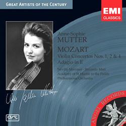 모차르트 : 바이올린 협주곡 1,2,4번 - 안네 소피 무터
