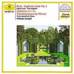 Wilhelm Kempff 바흐 / 헨델 / 글룩 : 피아노 편곡집 - 빌헬름 켐프 (Bach : English Suite No.3ㆍCapriccio BWV992ㆍTranscriptions For Piano)