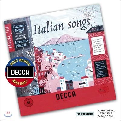 Gianni Poggi 지아니 포기 이탈리아 가곡집 (Italian Songs)