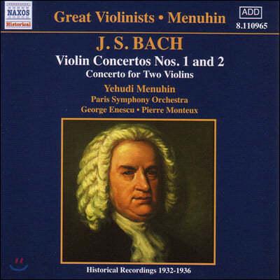 Yehudi Menuhin 바흐: 바이올린 협주곡 1,2번 - 예후디 메뉴인