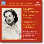 Kathleen Ferrier 브람스: 알토 랩소디 / 슈만: 여인의 사랑과 삶 - 캐슬린 페리어 (Brahms / Schumann)
