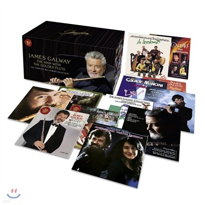 James Galway - The Man With The Golden Flute / 제임스 골웨이 RCA 녹음 전집 [71CD + 2DVD 수입한정반]