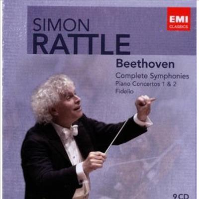 사이몬 래틀 - 베토벤 에디션; 교향곡 1-7번, 피아노 협주곡 1,2번, 피델리오 전곡 (Rattle Edition - Beethoven) (9CD Boxset) - Simon Rattle