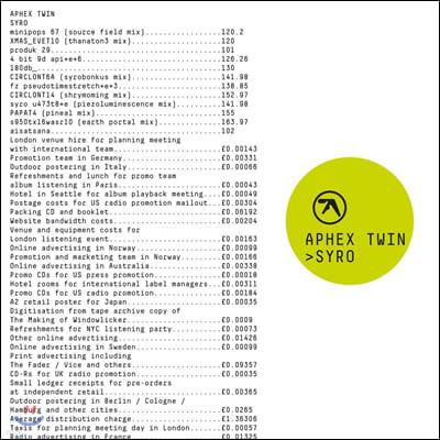 Aphex Twin (에이펙스 트윈) - 6집 Syro