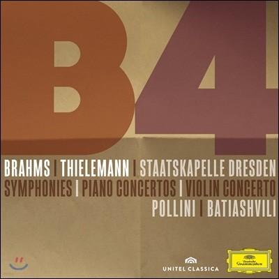 Maurizio Pollini / Christian Thielemann 브람스: 교향곡 전곡 (CD)+ 협주곡 (DVD) (Brahms: 4 Symphonies & Overtures)