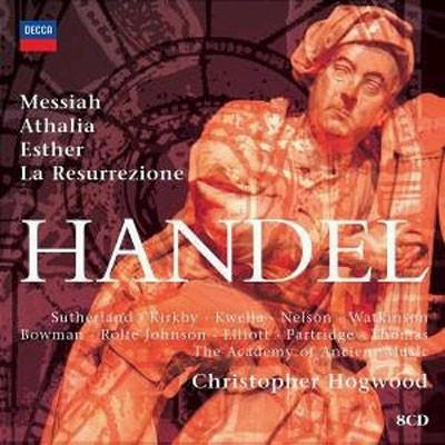 Christopher Hogwood 헨델: 오라토리오 모음집 - 메시야 에스더 아탈리아 부활 (Handel Oratorios) 호그우드
