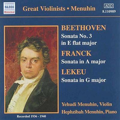 Beethoven / Franck : Violin Sonata : Menuhin