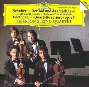 Emerson String Quartet / Schubert : Der Tod und das Madchen, Beethoven : Quartetto serioso, Op. 95 (수입/4233982)
