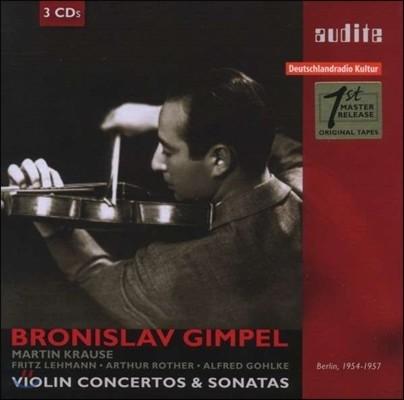 Bronislaw Gimpel 바이올린 협주곡과 소나타 (Violin Concertos & Sonatas)
