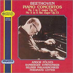Beethoven : Piano Concerto No.1 & No.5 : Andor Foldes