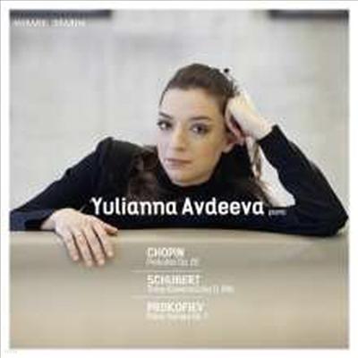 슈베르트: 피아노 소곡, 프로코피에프: 피아노 소나타 7번, 쇼팽: 전주곡 1-24번 (Schubert: Klavierstucke D.946, Prokofiev: Piano Sonata No.7, Chopin: Preludes No.1-24) (2CD)(Digipack) - Yulianna Avdeeva