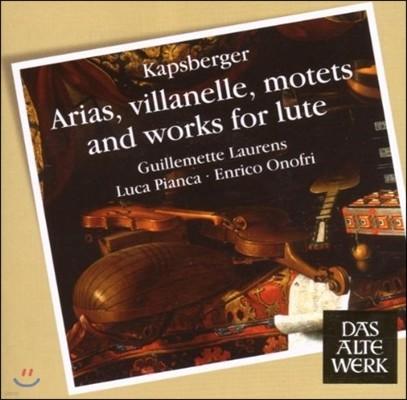 Guillemette Laurens 캅스베르거: 아리아, 빌라넬르, 모테트 & 류트 작품 (Kapsberger: Arias, Villanelle, Motets & Lute Works)