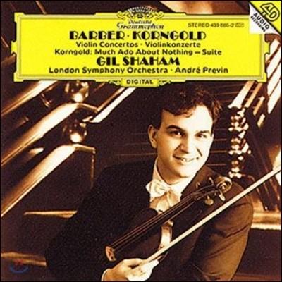 Gil Shaham 바버 / 코른골트: 바이올린 협주곡 (Barber / Korngold: Violin Concertos)