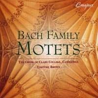 [미개봉] Timothy Brown / 바흐 가문 음악가들의 모테트 (Bach Family Motets) (수입/미개봉/290236)