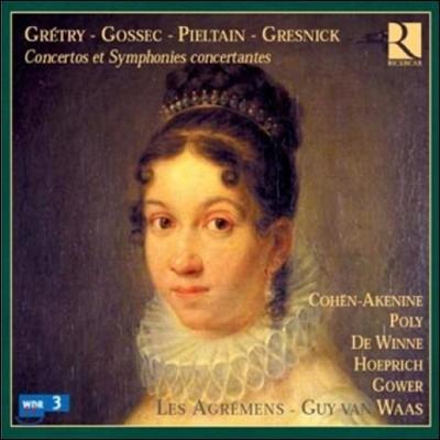 Les Agremens 고세크 / 피엘탱 / 그레트리 / 그레즈니크: 협주곡과 실내악곡들 (Gretry / Gossec / Pieltain / Gresnick: Concertos, Symphonies concertantes)
