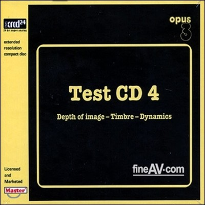 테스트 CD 4 - 이미지의 깊이, 음색, 역동성 (Opus3 Test CD 4 - Depth of Image-Timbre-Dynamics XRCD)