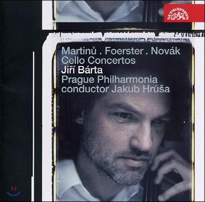 Jiri Barta 마르티누 / 푀르스터: 첼로 협주곡/ 노바크: 첼로와 오케스트라를 위한 카프리치오 (Martinu / Foerster: Cello Concertos, Novak: Capriccio For Cello And Small Orchestra)