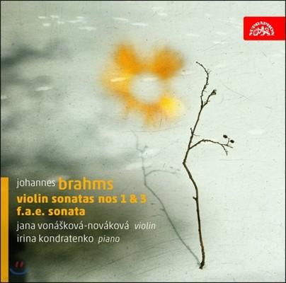 Jana Vonaskova-Novakova 브람스: 바이올린 소나타 1번, 3번, F.A.E.소나타 (Brahms: Violin Sonata Nos.1, 3, F.A.E Sonata)