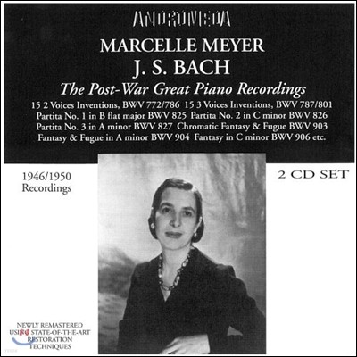 Marcelle Meyer 바흐: 인벤션, 파르티타 외 (The Post-War Great Piano Recordings - Bach: Inventions, Partitas BWV825-827)