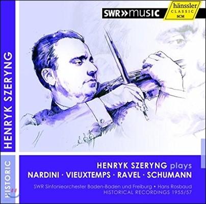 Henryk Szeryng 나르디니 / 비외탕 / 슈만: 바이올린 협주곡 (Nardini / Vieuxtemps / Schumann: Violin Concerto / Ravel: Tzigane) 헨릭 쉐링