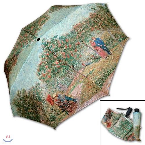 명화_고흐-연인이 있는 정원 3단자동우산