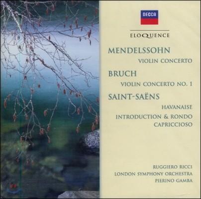 Pierino Gamba 생상스: 하바네라, 론도 카프리치오소 / 멘델스존: 바이올린 협주곡 (Saint-Saens: Havanaise, Rondo Capriccioso / Mendelssohn: Violin Concerto Etc.)