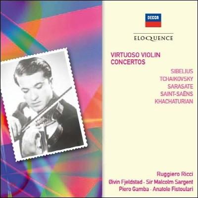 Ruggiero Ricci 시벨리우스 / 차이코프스키 / 사라사테: 비르투오소 바이올린 협주곡 (Sibelius / Tchaikovsky / Sarasate: Virtuoso Violin Concertos)