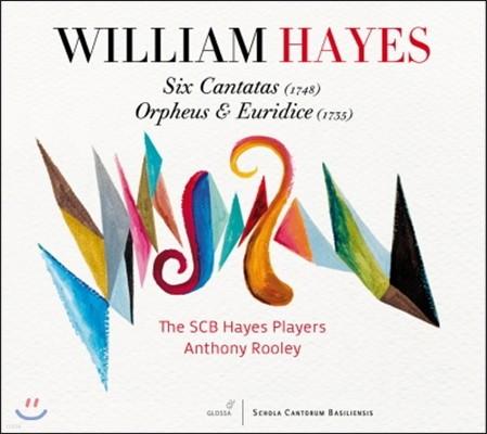 Antony Rooley 윌리엄 헤이즈: 6곡의 칸타타, 오르페우스와 유리디스 (William Hayes: Six Cantatas, Orpheus and Euridice)